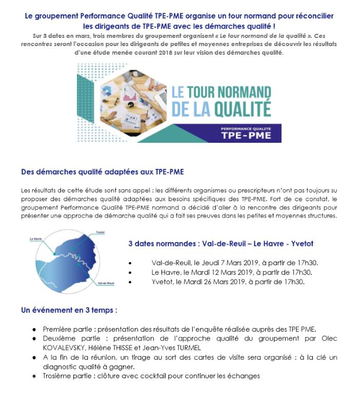 tour normand de la qualité